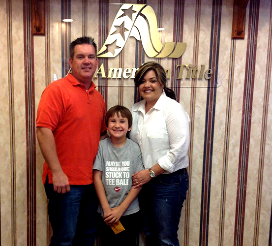Tindel family buys a house